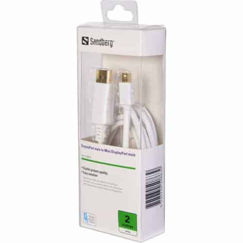 Sandberg Mini DisplayPort Male to DisplayPort Male Converter Cable