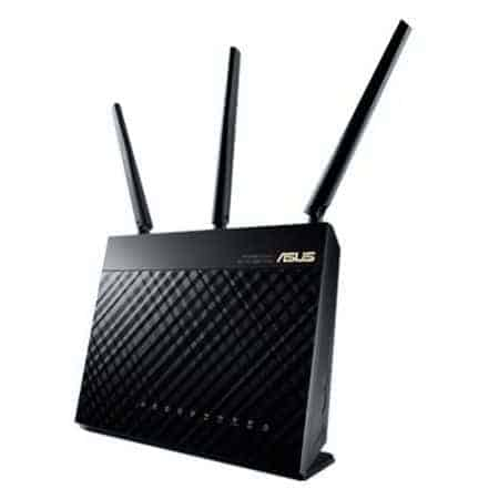 Asus (RT-AC68U) AC1900 (600+1300) Wireless Dual Band GB Cable Router